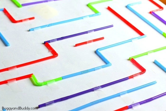 STEM Challenge for Kids: Build a Hexbug Maze with Straws (Fun science activity for a class or rainy day!)