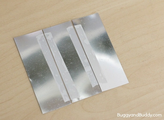tape your mylar strips together