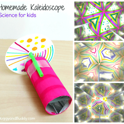 STEAM / Science for Kids: How to Make a Kaleidoscope- explore reflections , light, and symmetry! (Meets NGSS- Next Generation Science Standards) ~ BuggyandBuddy.com