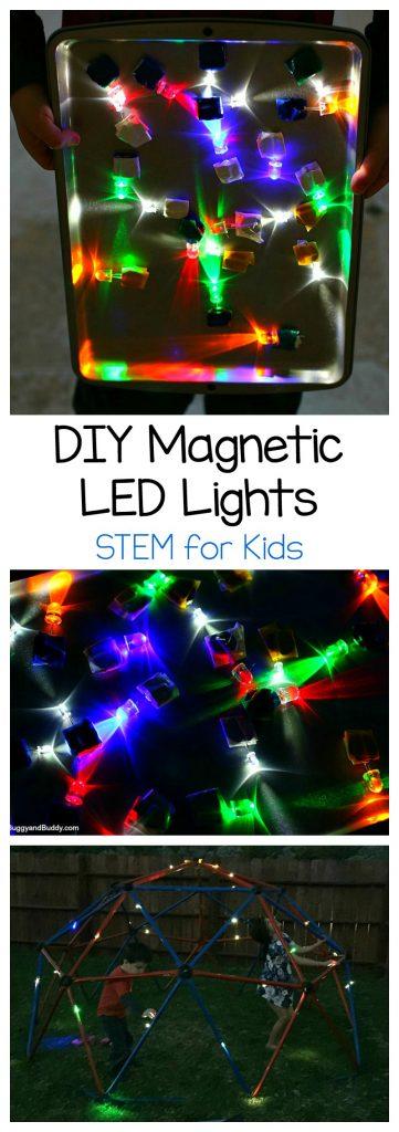 DIY Magnetic LED lights