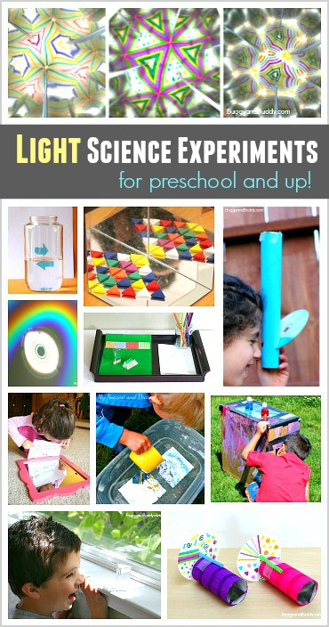 Light Science for Kids: Science activities and experiments about light refraction and light reflection!