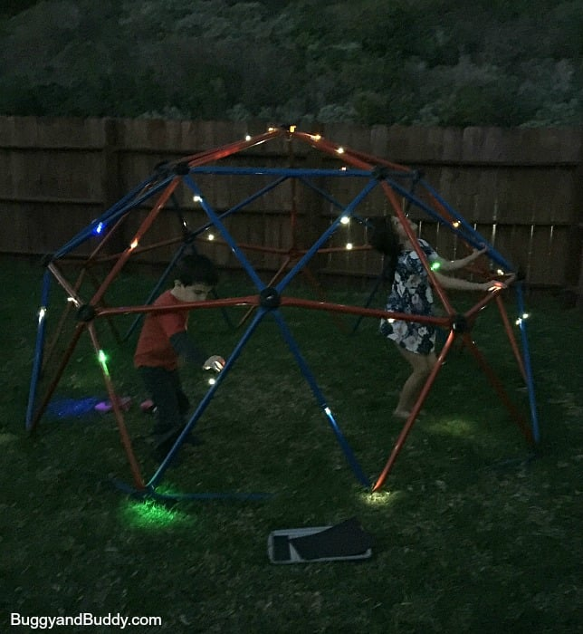 exploring science with kids using LED throwies