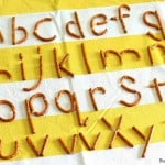 Making Letters of the Alphabet Using Pretzels