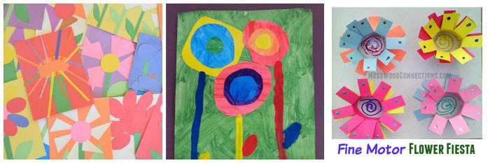 flower crafts for kids using paper