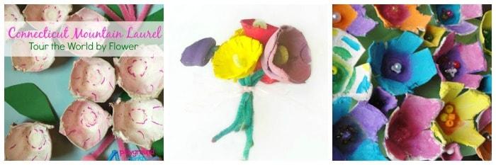 egg carton flower crafts for kids