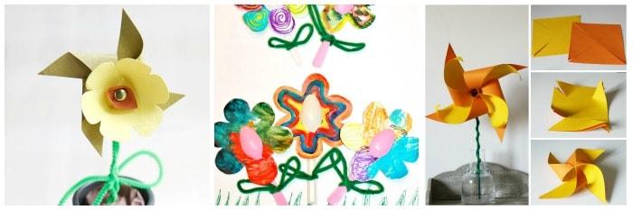 paper flower crafts for kids