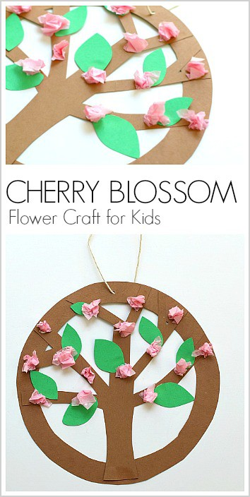Hanging Spring Tree Blossoms Flower Craft For Kids Can Be Adapted To Make Apple Trees