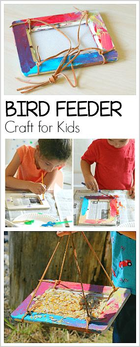 homemade bird feeder craft for kids