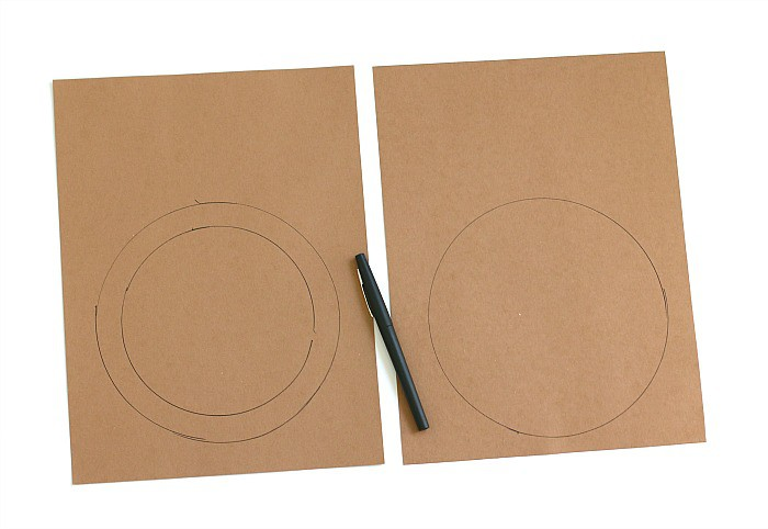 Trace circles onto your brown construction paper