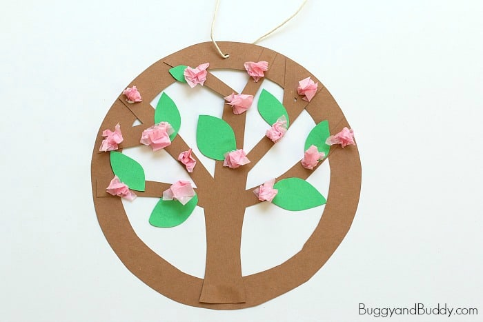 Tree Blossoms Flower Craft for Kids
