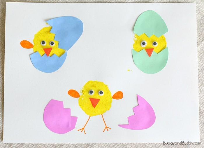 Hatching Spring Chicks Craft for Kids