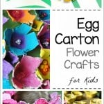 Egg Carton Flower Crafts for Kids