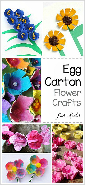 Egg Carton Flower Crafts for Kids - Buggy and Buddy