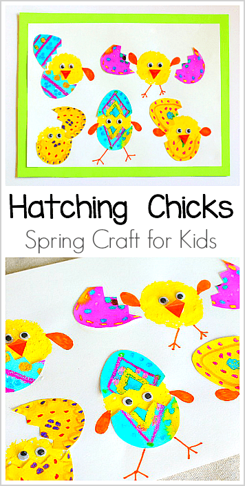 Hatching Chicks Craft for Kids: Perfect art project for preschool, kindergarten, and first grade (especially around Easter!) ~ BuggyandBuddy.com