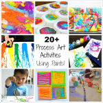 20+ Process Art Activities for Preschoolers Using Paint