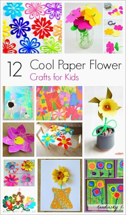 12 Cool Paper Flower Crafts for Kids