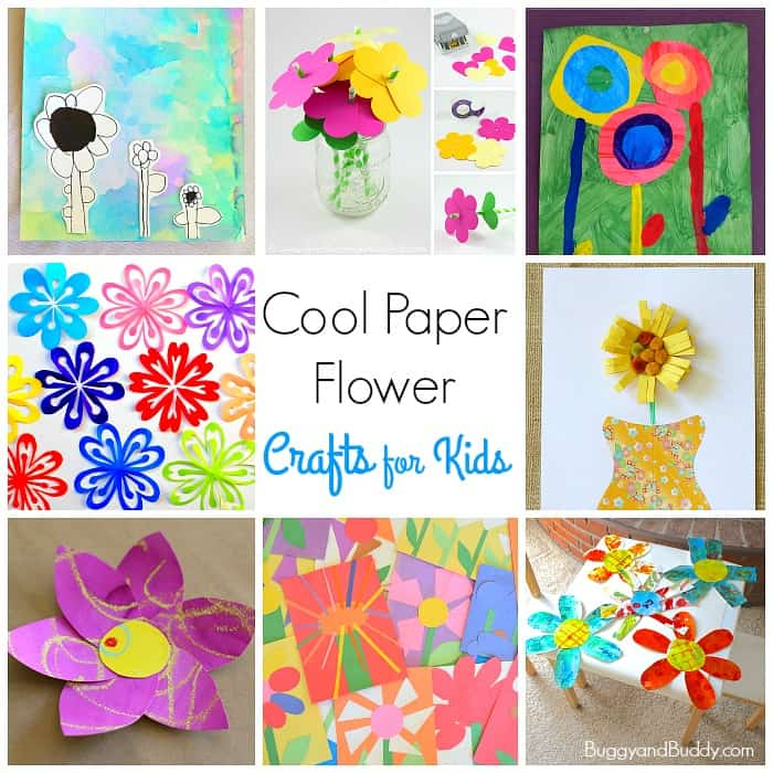 flower craft ideas for kids 12 cool paper flower craft for buggy and buddy 6580