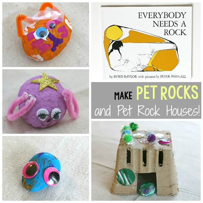 Pet Rocks (and Pet Rock Houses)- Craft for Kids Inspired by the book Everybody Needs a Rock