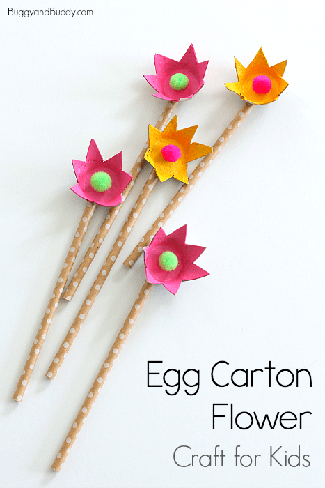 How To Make Egg Carton Flowers Buggy And Buddy