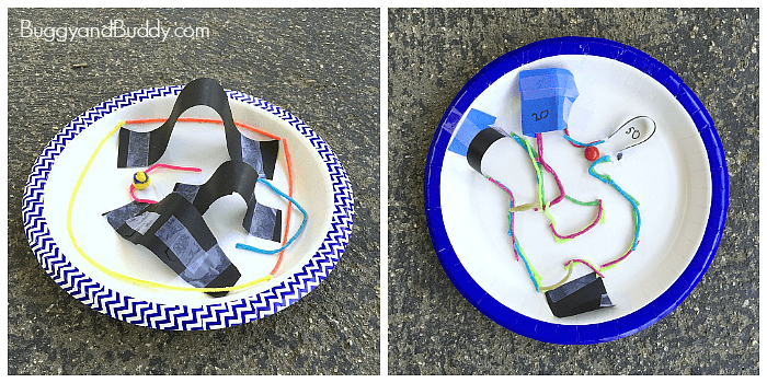 Stem Challenge For Kids Design A Paper Plate Marble Maze