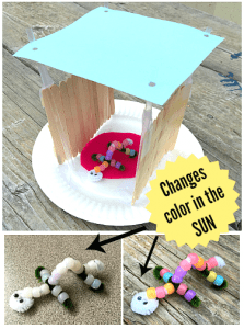 Build a Shelter from the Sun and Test it with UV-Sensitive Beads