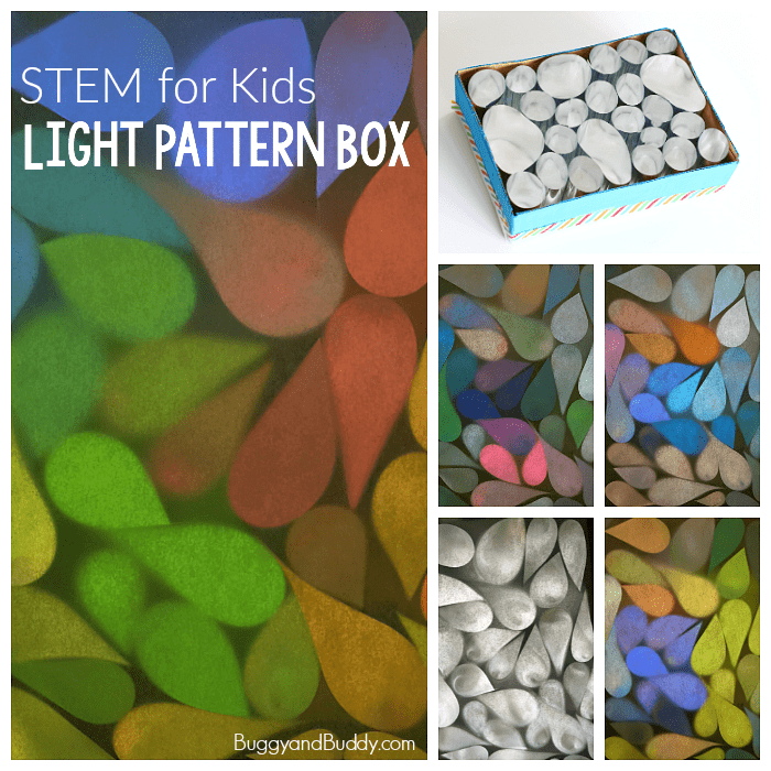 STEM / STEAM for Kids: Explore light patterns with a mylar light box.