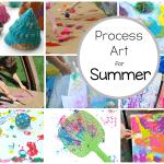 Preschool Process Art Activities Perfect for Summer