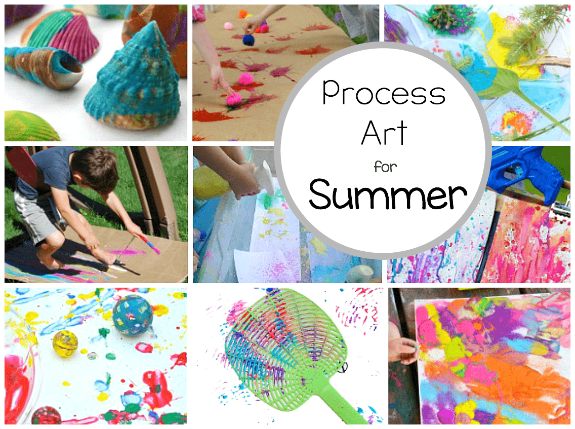 Preschool process art activities perfect for summer for Arts and crafts for daycare