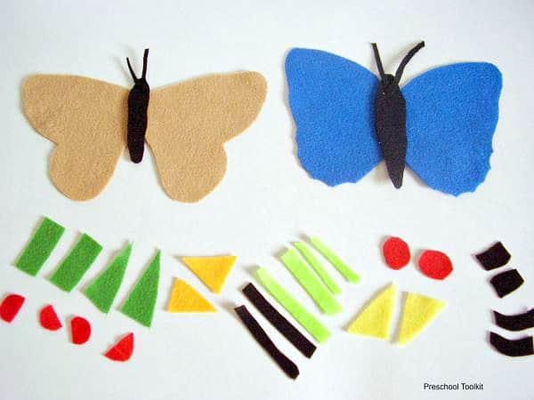 Felt Butterfly Alphabet Activity