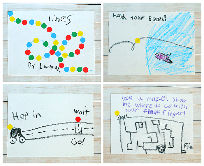 Invitation to Create inspired by Herve Tullet's Let's Play!