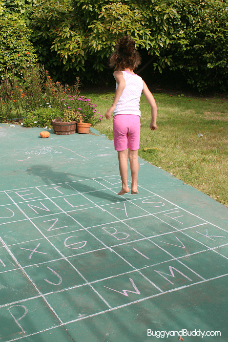 ABC Sidewalk Chalk Game