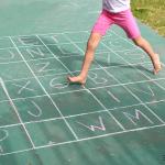 alphabet sidewalk chalk game