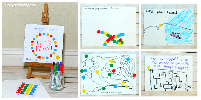 Invitation to Create inspired by Herve Tullet's children's book, Let's Play!
