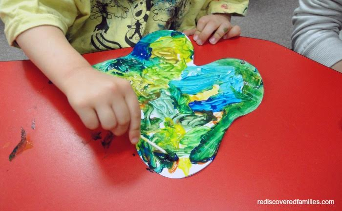 sponge painted butterfly craft
