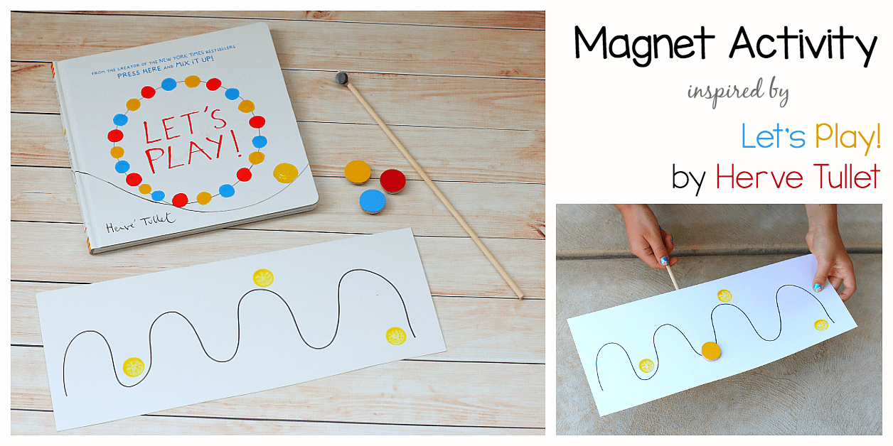 Magnet Activity Inspired by Herve Tullet's Let's Play!
