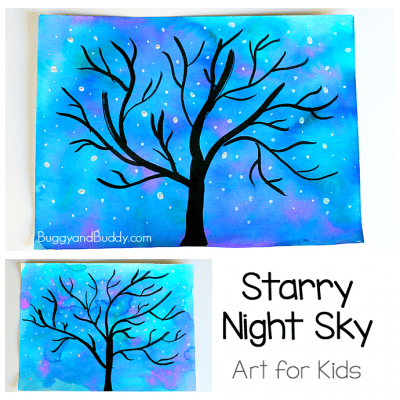 Starry Night Sky Art Project for Kids