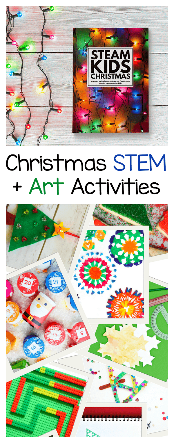 Steam Kids Christmas Book Stem Art Activities For The Holidays Buggy And Buddy