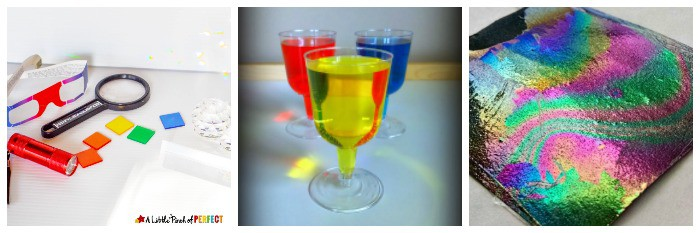 rainbow stem and science activities for kids