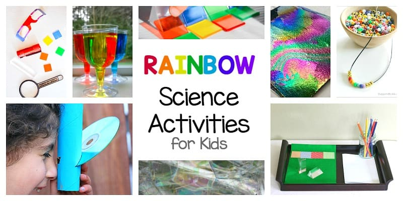 rainbow science and rainbow STEM activities