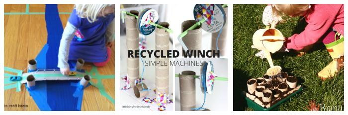 science activities for kids using cardboard tubes like toilet paper rolls, paper towel rolls