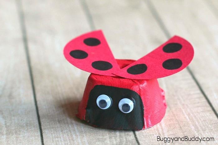 Egg Carton Ladybug Craft For Kids Buggy And Buddy