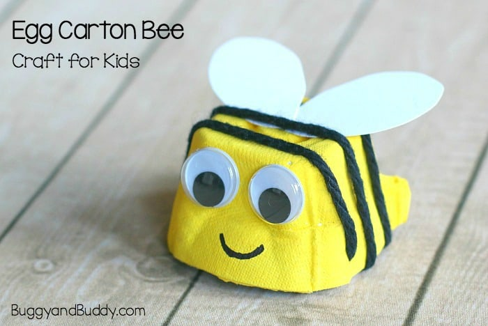 Egg Carton Bee Craft For Kids Buggy And Buddy