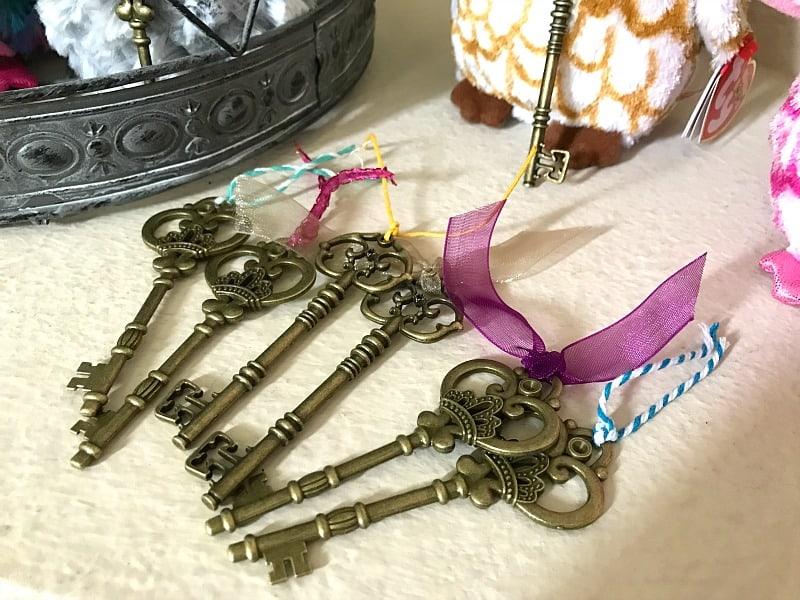 keys for harry potter birthday party