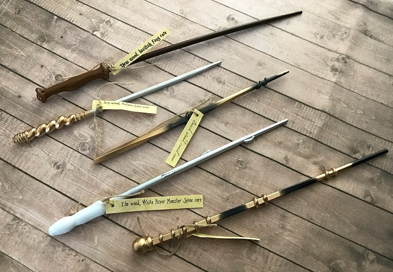 wands for harry potter birthday party