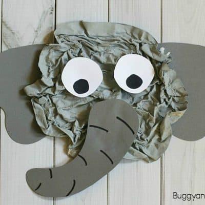 Elephant Craft for Kids Using Crumpled Newspaper