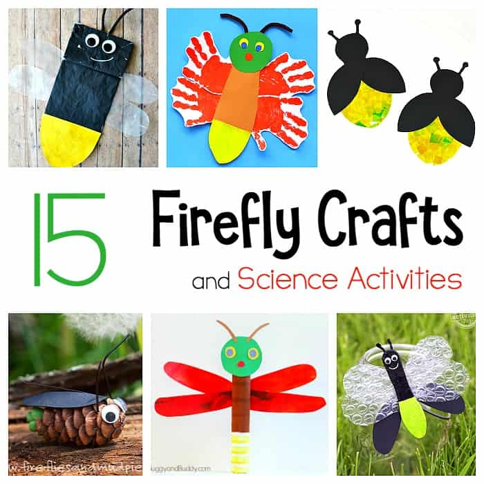 Firefly crafts and science activities for kids: lightning bug crafts for summer- including STEM / STEAM ideas!