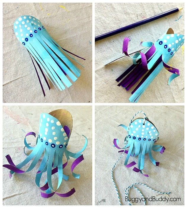 Paper Towel Rolls Crafts: Cardboard Tube Jellyfish Craft For Kids