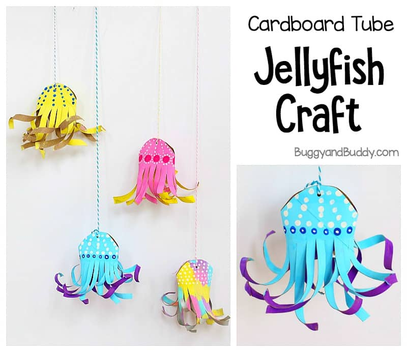 Cardboard Tube Jellyfish Craft For Kids Buggy And Buddy