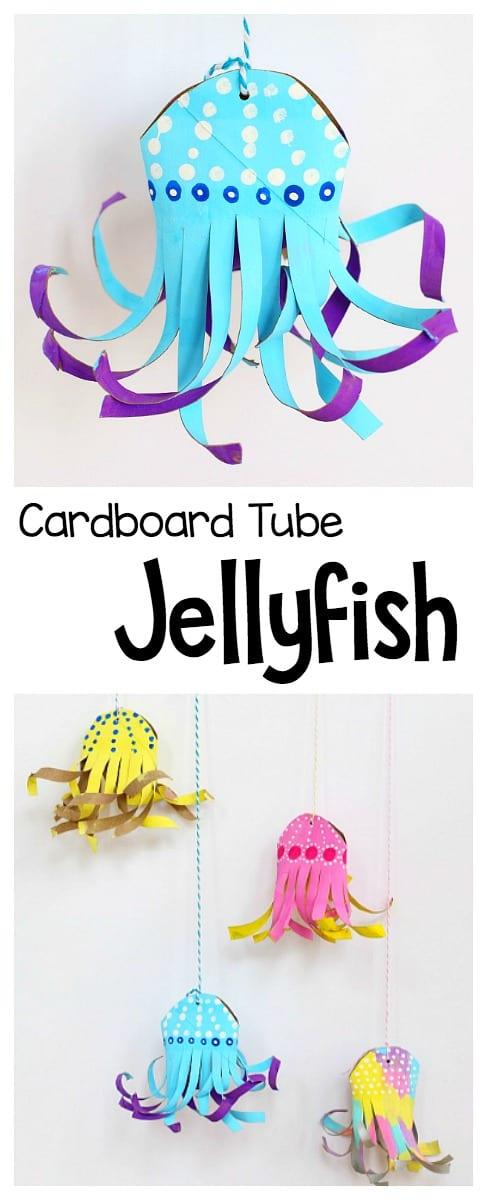 cardboard tube jellyfish craft for kids