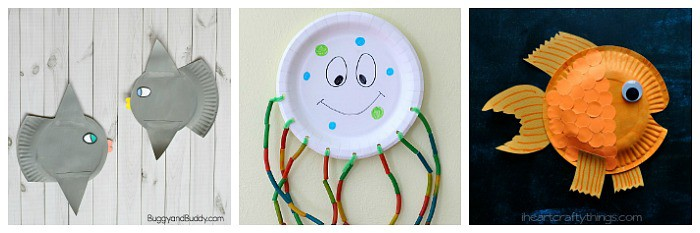paper plate ocean animal crafts